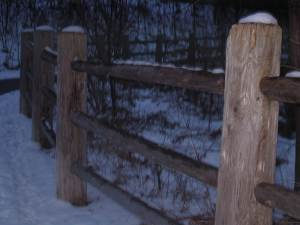 Wooden Fence Twilite