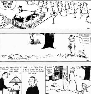 Calvin and Hobbes Snowmen 2