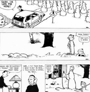 Calvin and Hobbes Snowmen 2