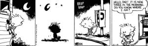 Clavin and Hobbes Comic Strip